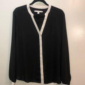 Lauren Conrad black dressy Blouse